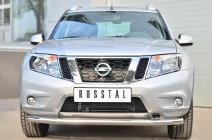 Nissan Terrano 2014-  Защита переднего бампера d63 (секции) NTRZ-001786
